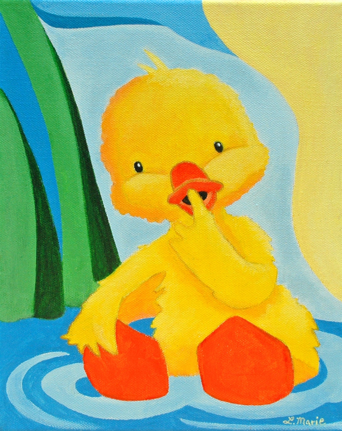 Pin Yellow Duck Kids Wall Art Girl Nursery Decor Print By Lwisham3