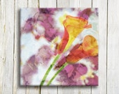 "Floral printed art. Canvas art. 12""/12"" Framed art - OneDesign4U"