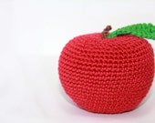 Crochet apple toy for children, baby - designML