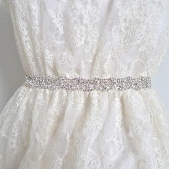 Bridal crystal belt, rhinestone sash, bridal sash, bridal belt - style M04