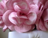 Valentine's Day Love and Hearts  Paper Rose Flower Pot Centerpiece - Personalize it - PAPERFLORISTS