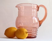 Vintage Pink Glass Jug - MilliesMiscellany