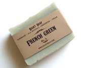 French Green Soap - Natural Soap, Vegan Soap, Unscented Soap, Handmade Soap, Cold Process Soap, - RightSoap