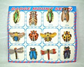 Vintage tin  insect badge 12set from Japan - muupygame