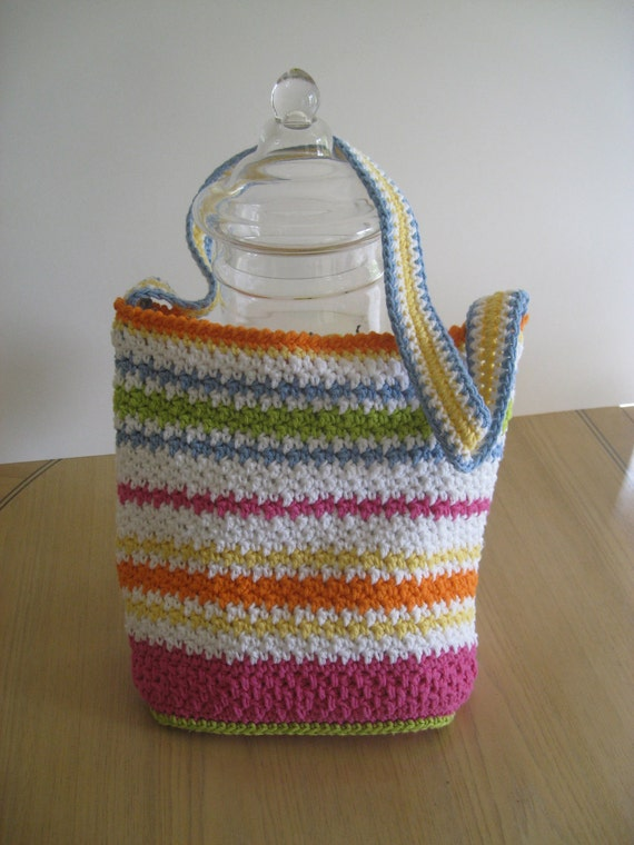Woman's Tote or Purse, Crochet Pattern PDF 12-021 INSTANT DOWNLOAD