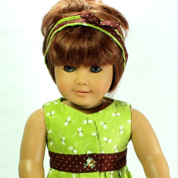 Sleeveless Wrap Dress & Headband fits 18 in Doll American Girl Doll