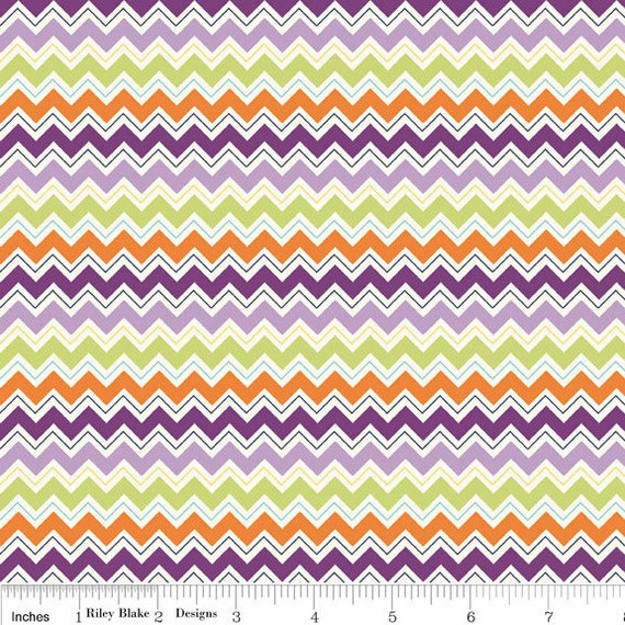 Riley Blake Fabric Dress Up Days Grape Chevron-1 Yard