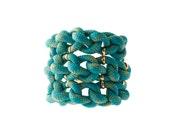 STACK Turquoise multi pattern cuff - cestjolijewelry