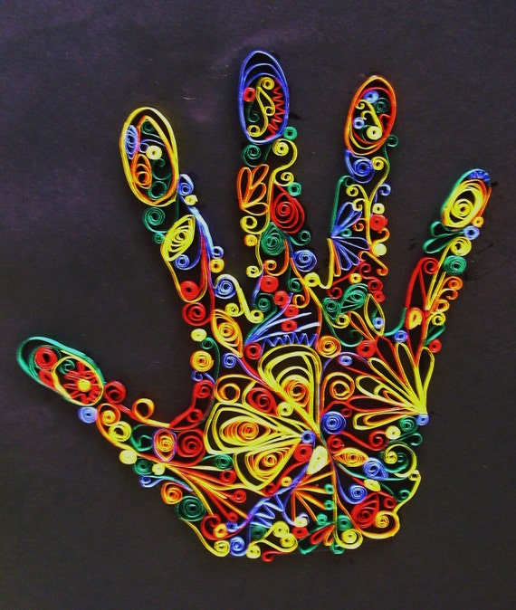 Beautiful Paper Quilled Hand Design