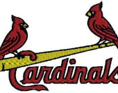 Instant Download St Louis Cardinals Baseball Logo with Two Birds Machine Embroidery Stitched Design in Tons Sizes - sportsembroidery