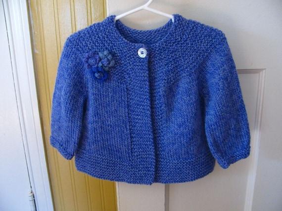 flower yoke baby sweater