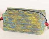 Travel Bag, Custom Printed Fabric, Yellow Letter D