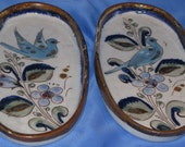 Vintage Ken Edwards El Palomar Set of Two Appetizer Trays - JosChinaShop
