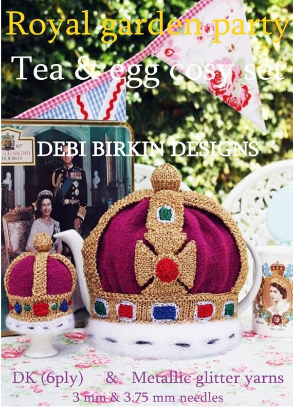 jubilee royal crown teacosy teacozy cozy cosies egg  PDF email knitting pattern