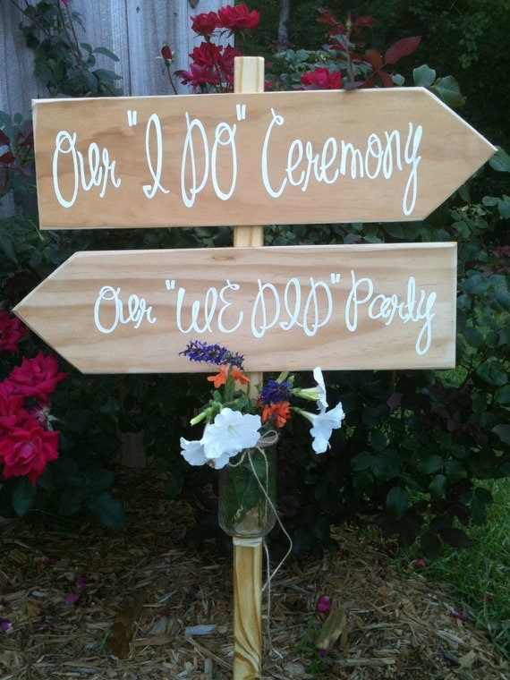 WEDDING SIGNS:  Reception two signs