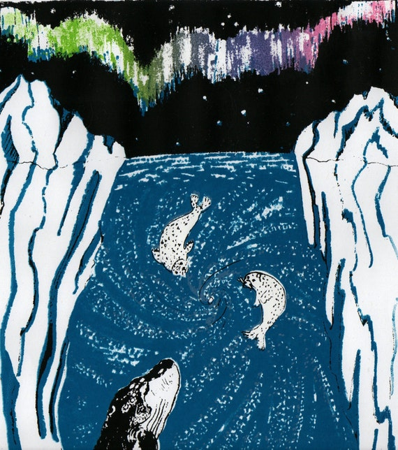 Imaginary Antarctic Screenprint