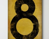 Number No. 8 - Vintage-Style Gas Station Number / Graphic Art / Gallery Wrapped Canvas 12x16x1.5 wall art - nativevermont