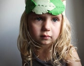 Woodland Green Leaf headband - tribal fashion for women teens and girls  leaf headband - handmade hair accessories halloween fairy costume - PaperdollAccessories