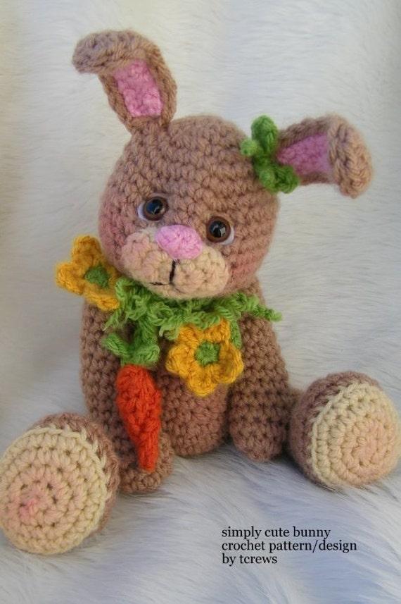 Bunny Crochet Pattern PDF Format Teri Crews
