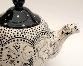 Tea Time ...In Black and White - poppyhousepottery