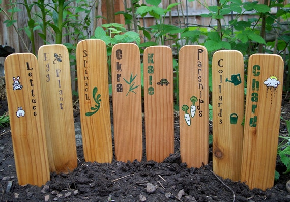 CLEARANCE - Garden Markers, Hand Crafted From Reclaimed Cedar