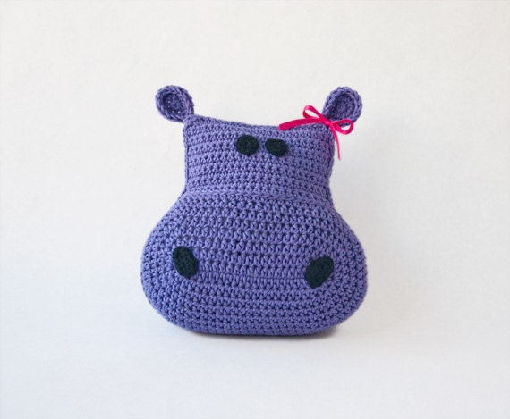 Instant Download - Hippo Pillow PDF Crochet Pattern (Level Easy) - Permission to Sell Finished Items