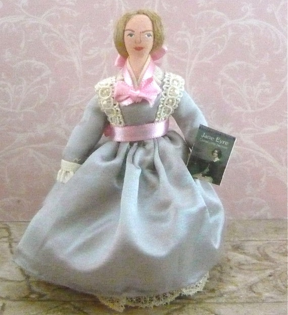 Charlotte Bronte Doll Author of Jane Eyre Miniature Art