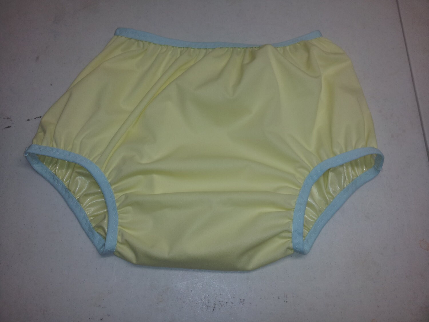 Adult Diaper Cover - Yellow and Blue - Size 28 to 38 inches