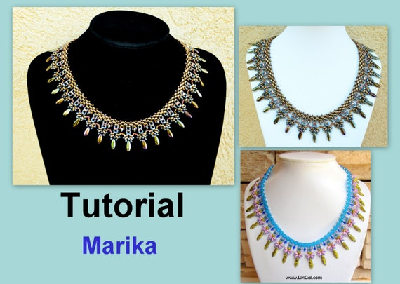 Tutorial Marika SuperDuo Necklace PDF