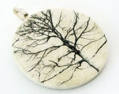 Pendant, Branches, Handmade Decoupaged, FREE SHIPPING - retropage