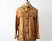 1970s Leather Jacket / Hand Made Buckskin Coat - 86Vintage86