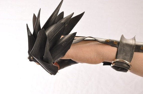 Raising Hell recycled rubber vegan Dragon Gloves or Glingers Order Early for Halloween