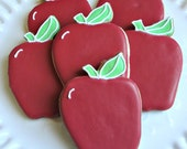 Apple Cookies Back To School Cookies Decorated Cookies Teacher Appreciation Cookies