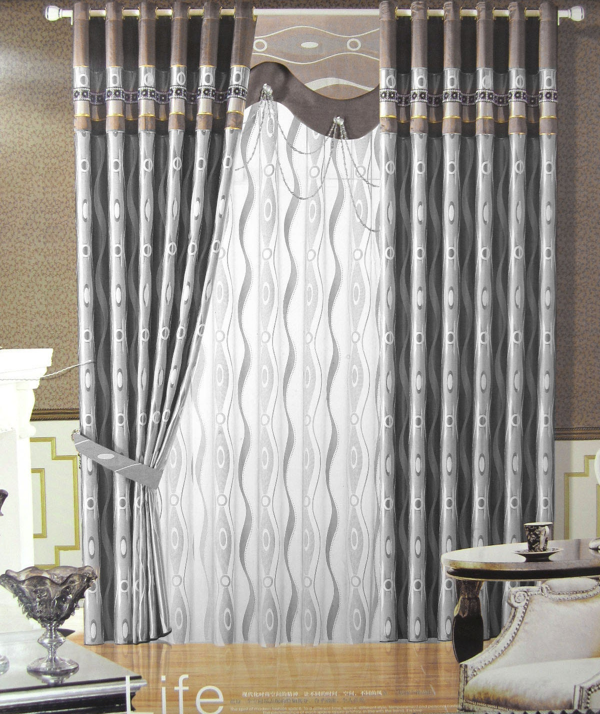 Silver Gray Shower Curtain Submited Images