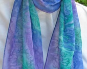 Hand Painted SILK CHIFFON SCARF - ShariArts