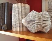 Art Altered Book Sculpture - folded Book paper Sculpture - Recycled Book - Eco friendly