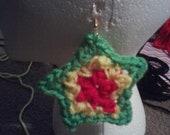 Rasta Crochet Star Earrings