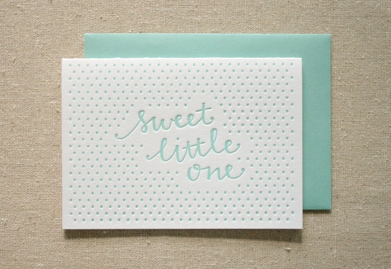 Little One Boy Letterpress Card