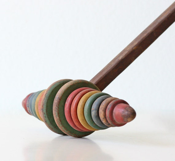 Vintage Wooden Child's Rolling Stick
