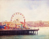California Photo, Santa Monica, fpoe, Pier, Ferris Wheel, Summer, Travel Photography, Wall Decor -The Pier (8x10) FIne Art Print - urbandreamphotos