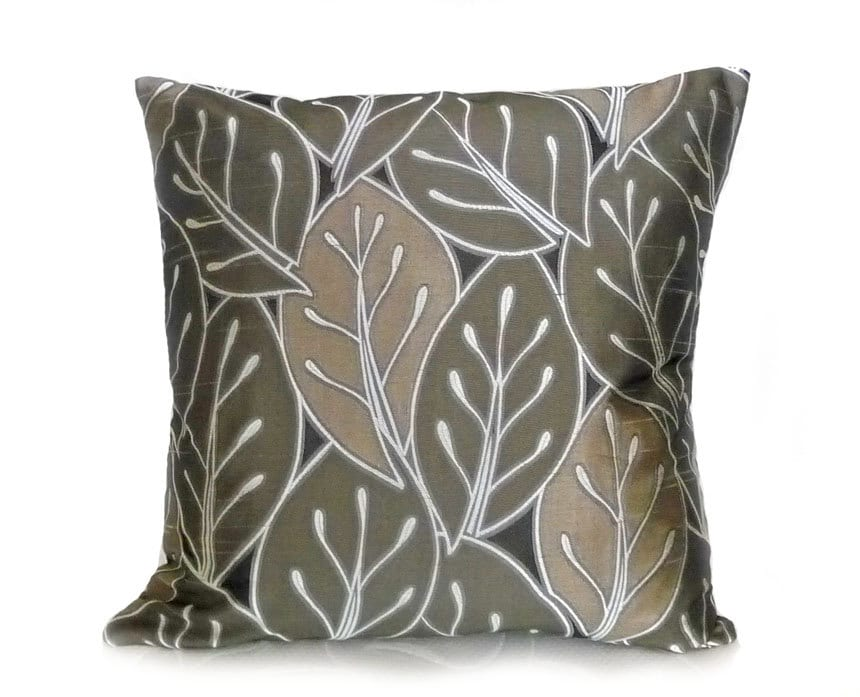 Contemporary Leaf Pillows Earthy Throw Pillows By