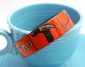 Hardware - Recycled Paper Cuff Bracelet - butternutsquash