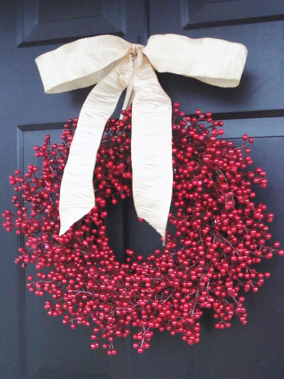 Happy Holidays Christmas Wreath, Holiday Wreath, Christmas Home Decor, Hydrangea Wreaths, Front Door Wreath, BLACK ETSY Promo