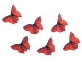 6 Monarch Butterfly Hair Clip Fall Autumn Wedding Silk Origami Monarch Butterflies Black Swarovski Crystals MEDIUM SIZE - SewSmashing