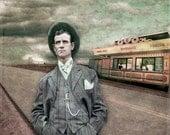 The Salesman - 8 X 8 fine-art photographic collage print - StoriedEye