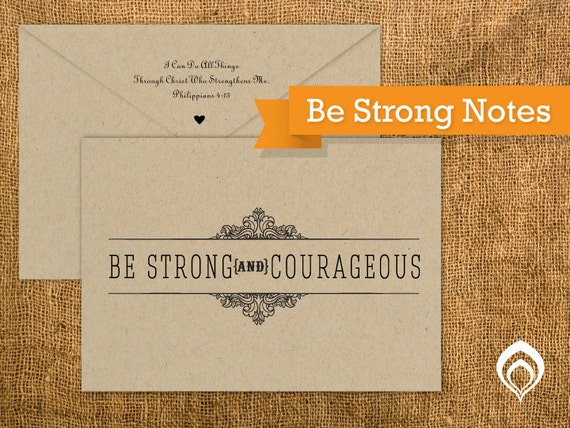 Be Strong Note Cards  (20 cards & Envelopes)