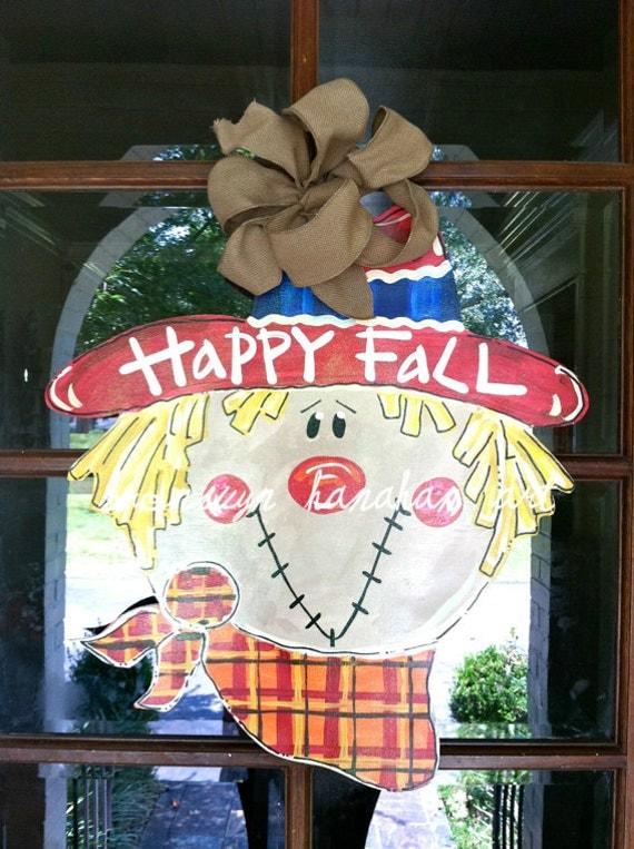 Scarecrow Door Hanger - Bronwyn Hanahan Original