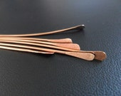 Artisan Solid Copper Paddle Pins Hand forged Hammered 50pcs 22g 2 inch - BeadingonaBudget