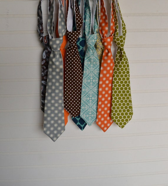 Little Boy's Necktie - Your Choice of Charming Fall Colors