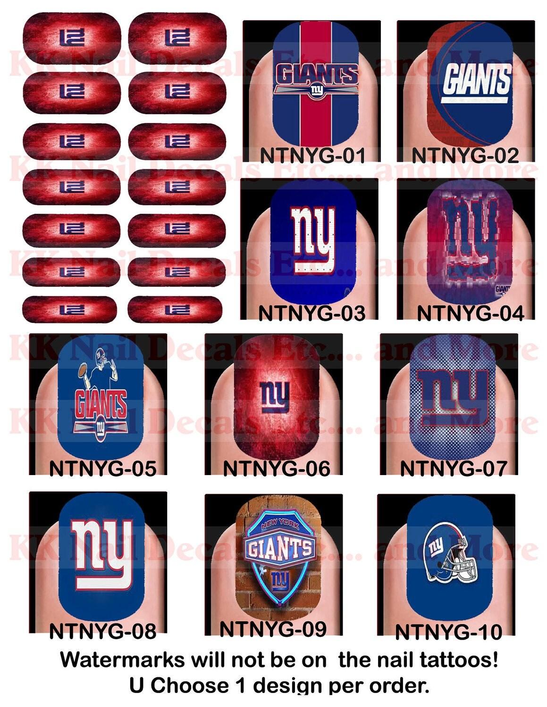 Ny Giants Nail Decals#%